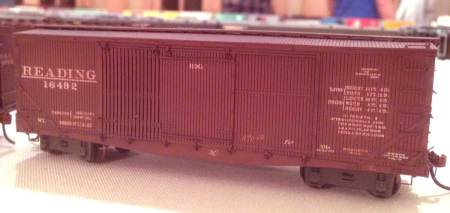 This Reading XMh class ventilated box car was one of many fine models to see in the 2014 RPM Valley Forge model display room.