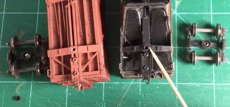 The Accurail hopper on the right has a cast on feature to stop the screw while the Westerfield resin kit on the left does not.