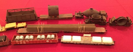 Freight car loads were a focus of these HO scale models by Fred Monsimer.