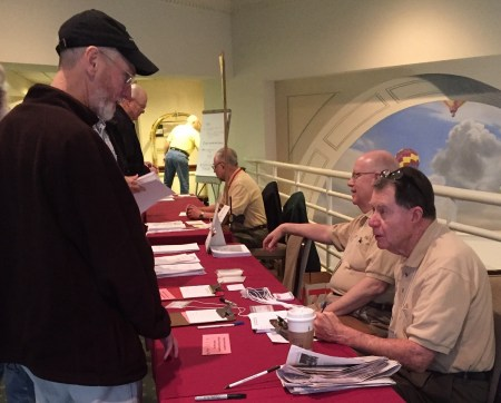 The registration crew kept things moving and offered helpful advice.