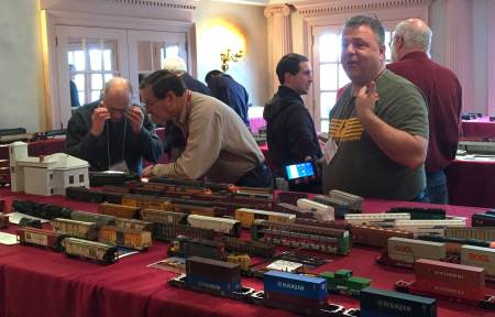 The model display room at the 2016 Valley Forge RPM was a busy place to review and discuss a wide variety of models.
