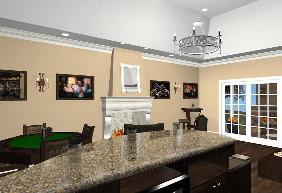 Bonus Room Designs With Fireplace Wet Bar And Wine Room