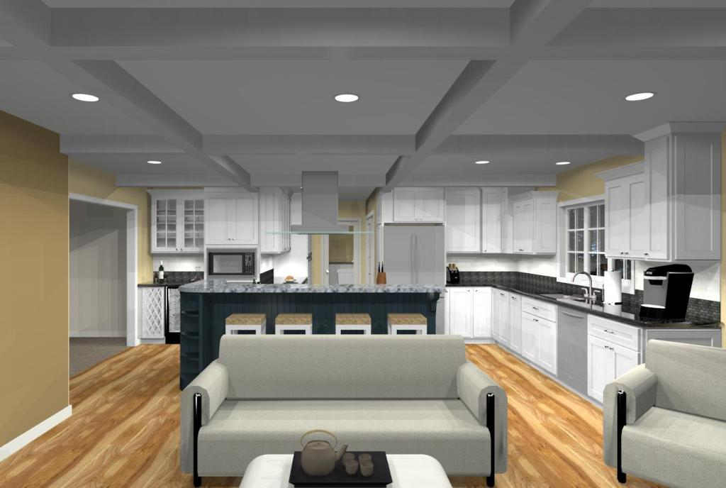 Kitchen Addition With Open Floor Plan In Monmouth County