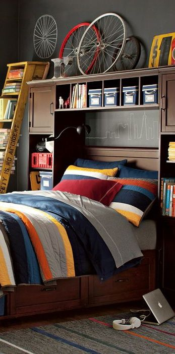 30 Awesome Teenage Boy Bedroom Ideas -DesignBump on Small Bedroom Ideas For Teenage Guys  id=81194