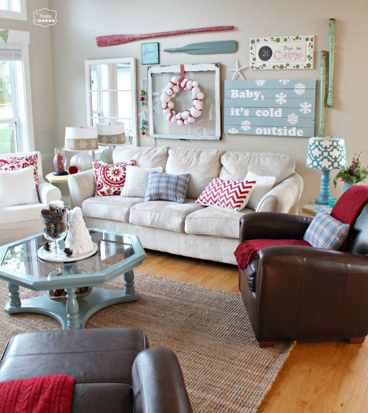 41 Christmas Decoration Ideas for Your Living Room -DesignBump on Small:szwbf50Ltbw= Living Room Decor Ideas  id=75623