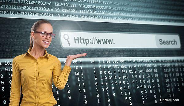 Computer Screen With Address Bar