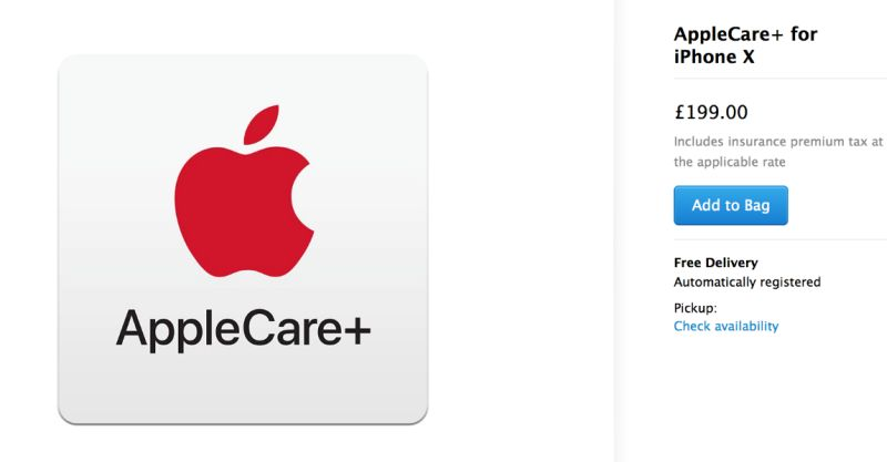 buy applecare+ with iPhone XS