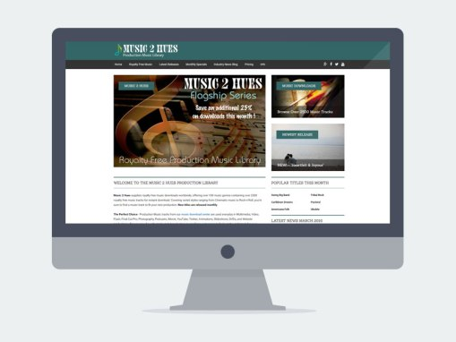 Lincoln NE Web Design and Development - music2hues