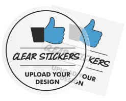 Custom 50mm Clear Stickers Design By Creative