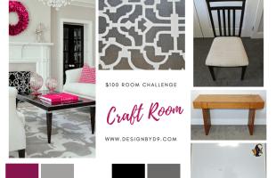 $100 Room Challenge – Craft Room Design – Week One