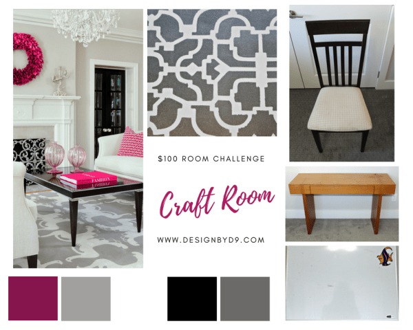 $100 Room Challenge re-using existing items in my craft room design