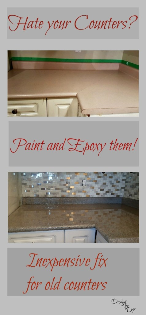 Envirotex Lite Epoxy on counters, painted counters