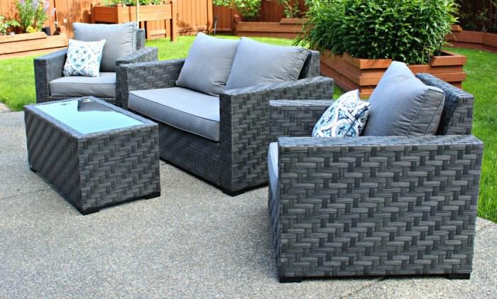 gray wicker furniture