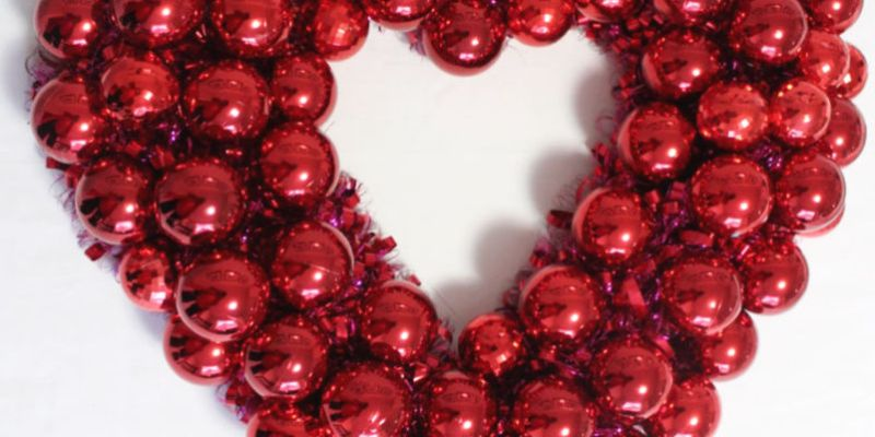DIY Wreath for Valentines Day