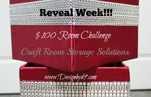 Craft Room Storage Solutions – $100 Room Challenge – Reveal Week