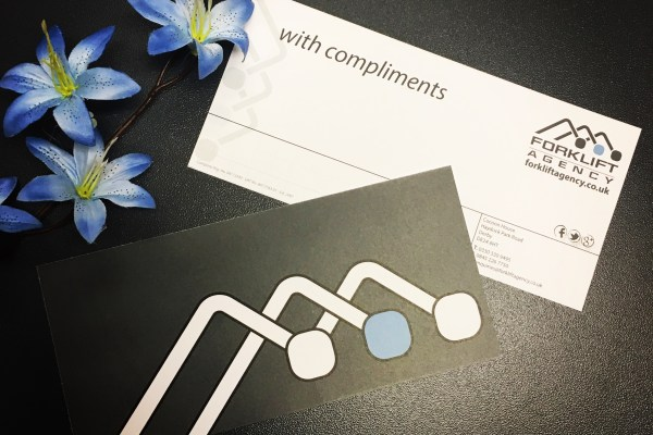 Compliments Slips – Forklift Agency