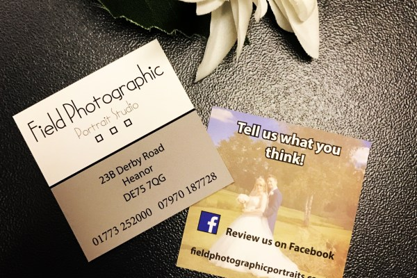 Feedback Cards – Field Photographic Portrait Studio