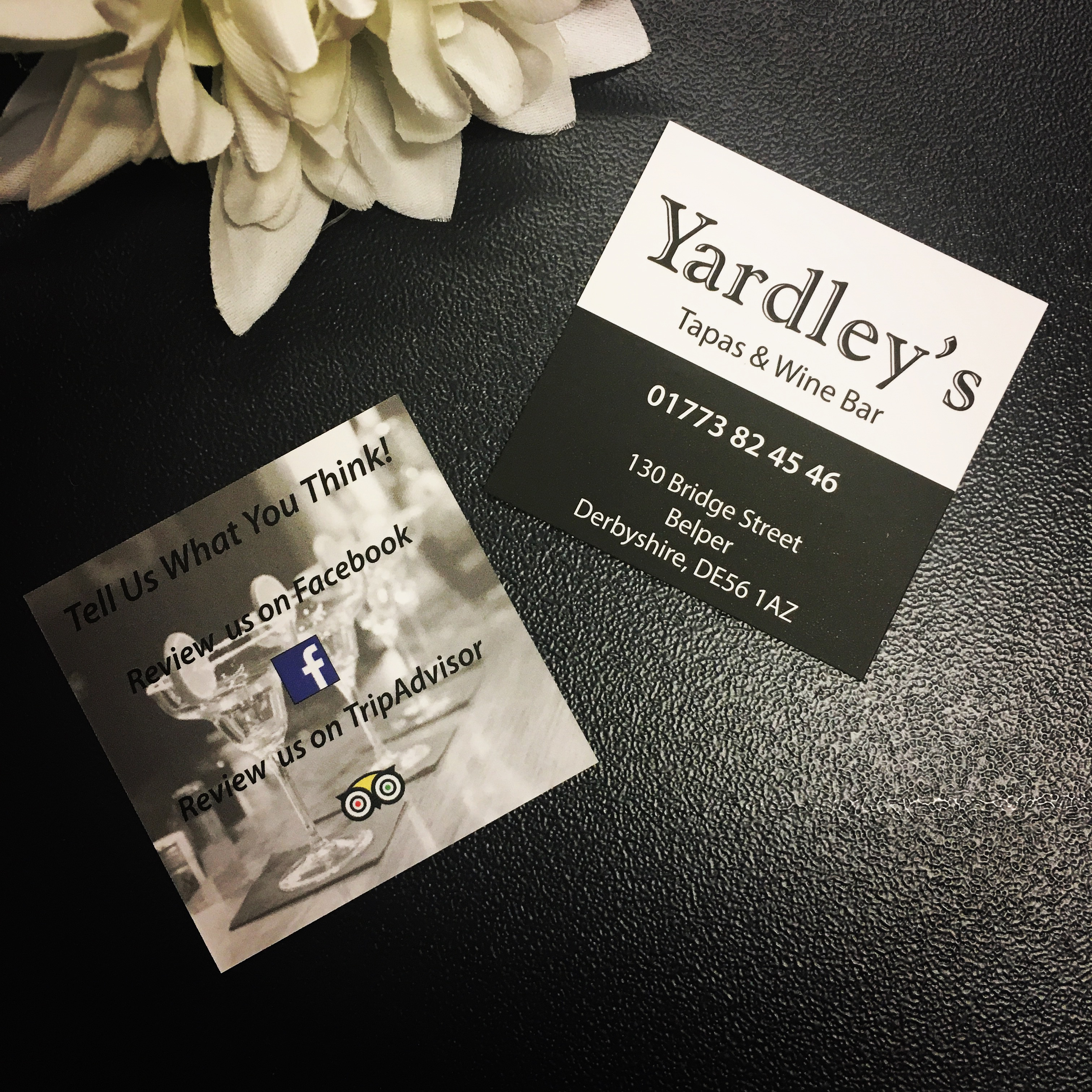 Feedback Cards - Yardley's