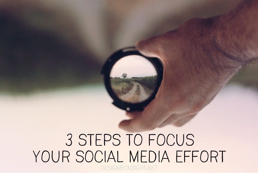3 steps to focus your social media effort