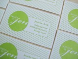 Letterpress Business Card Design by Jen