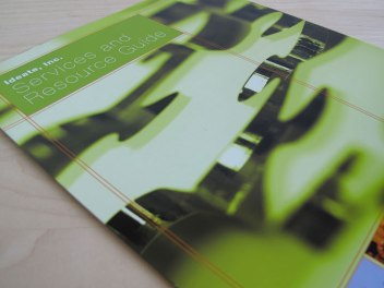 Ideate Services Brochure Layout Design