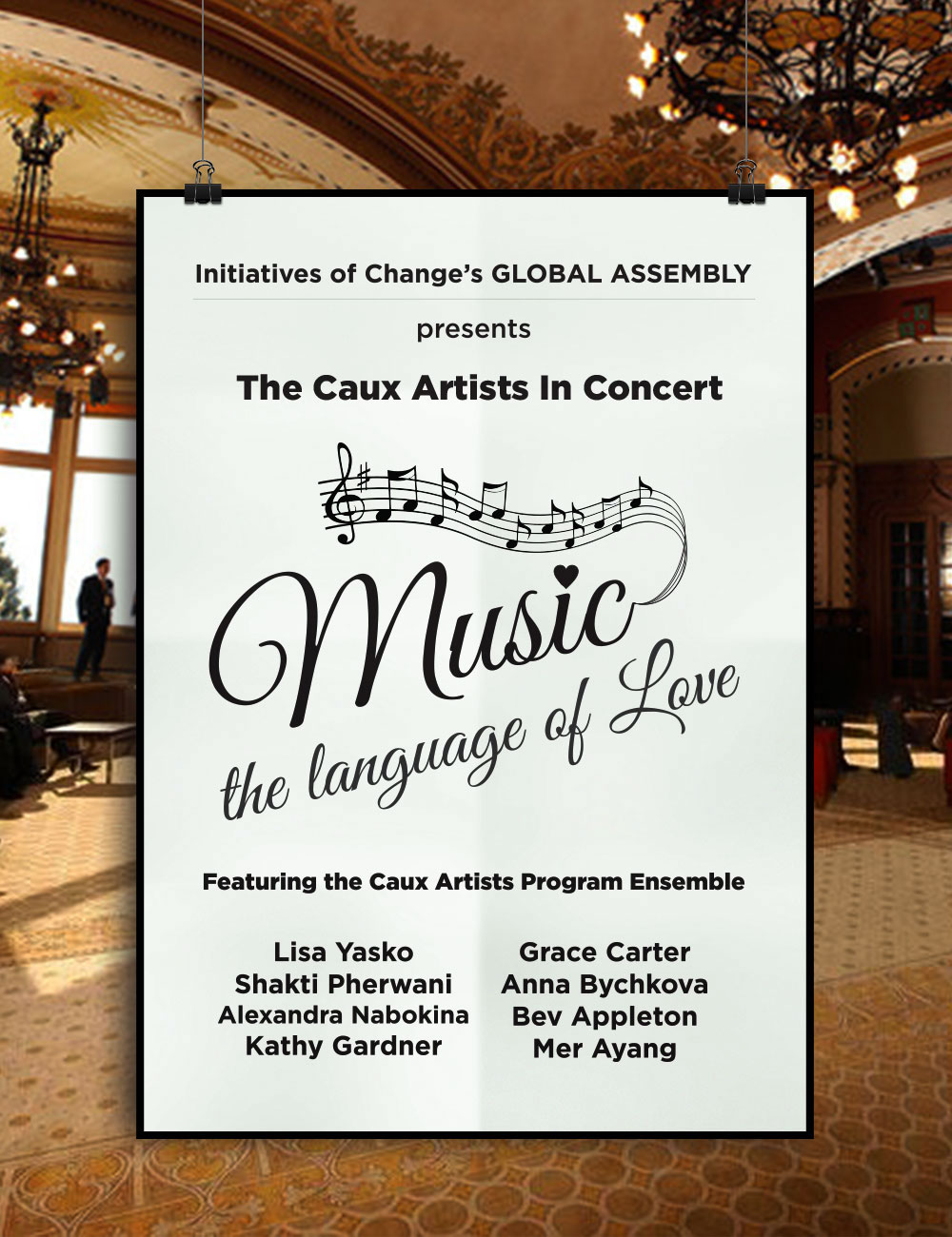 Poster for Caux Concert