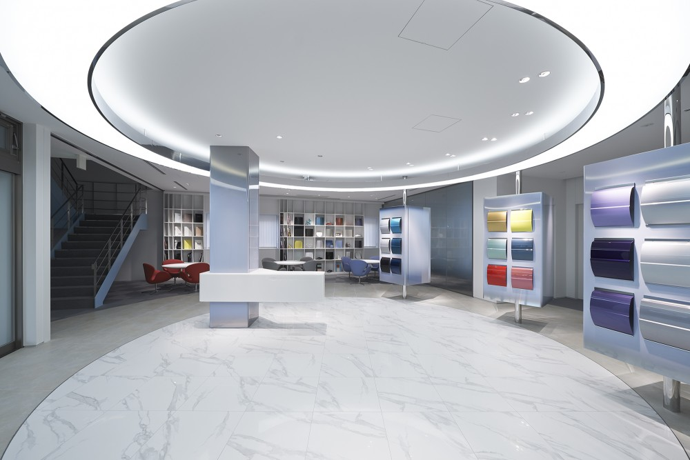NIPPON PAINT AUTOMOTIVE COATINGS HQ Show Room Designcafe