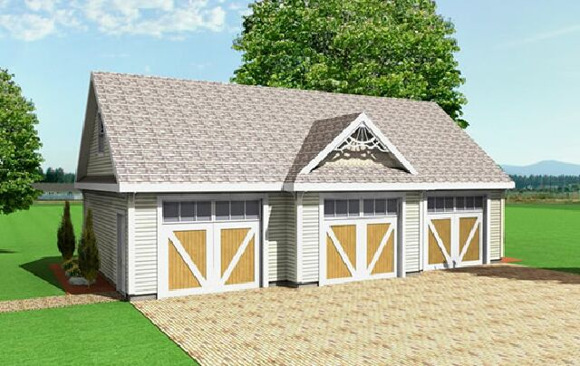 3 Car Garage Plans From Design Connection, LLC