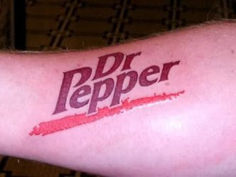 tatoo dr. pepper