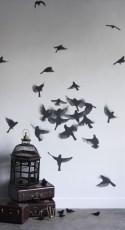 Adesivo de parede com pássaros