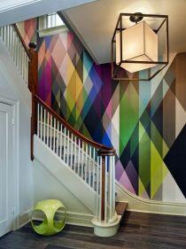 Papel de parede colorido e geométrico2