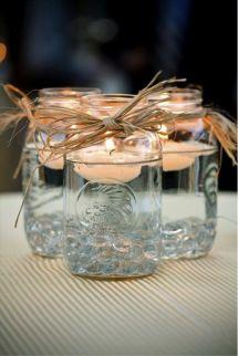 Potes de vidro decorativos