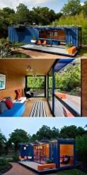 Casa criativa construída com container