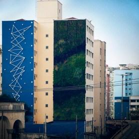 Jardim vertical em empena cega