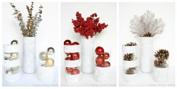 Christmas winter centerpiece