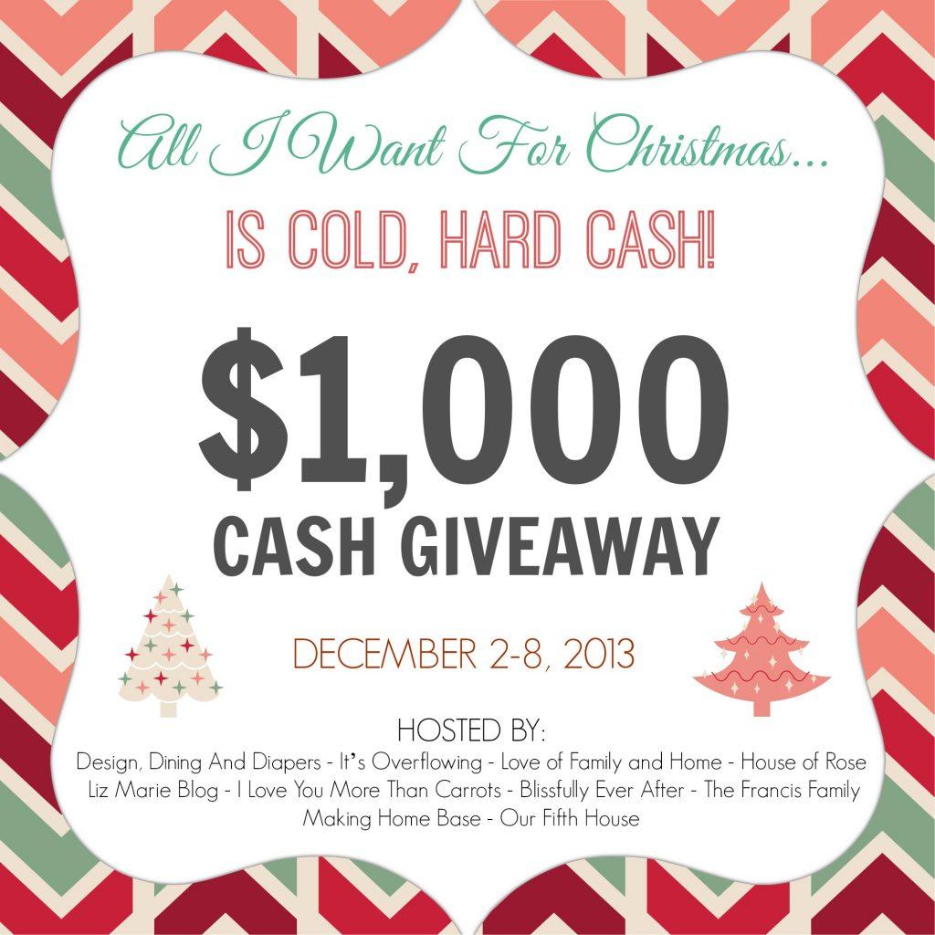 $1,000 Cold Hard Cash Giveaway - Liz Marie Blog