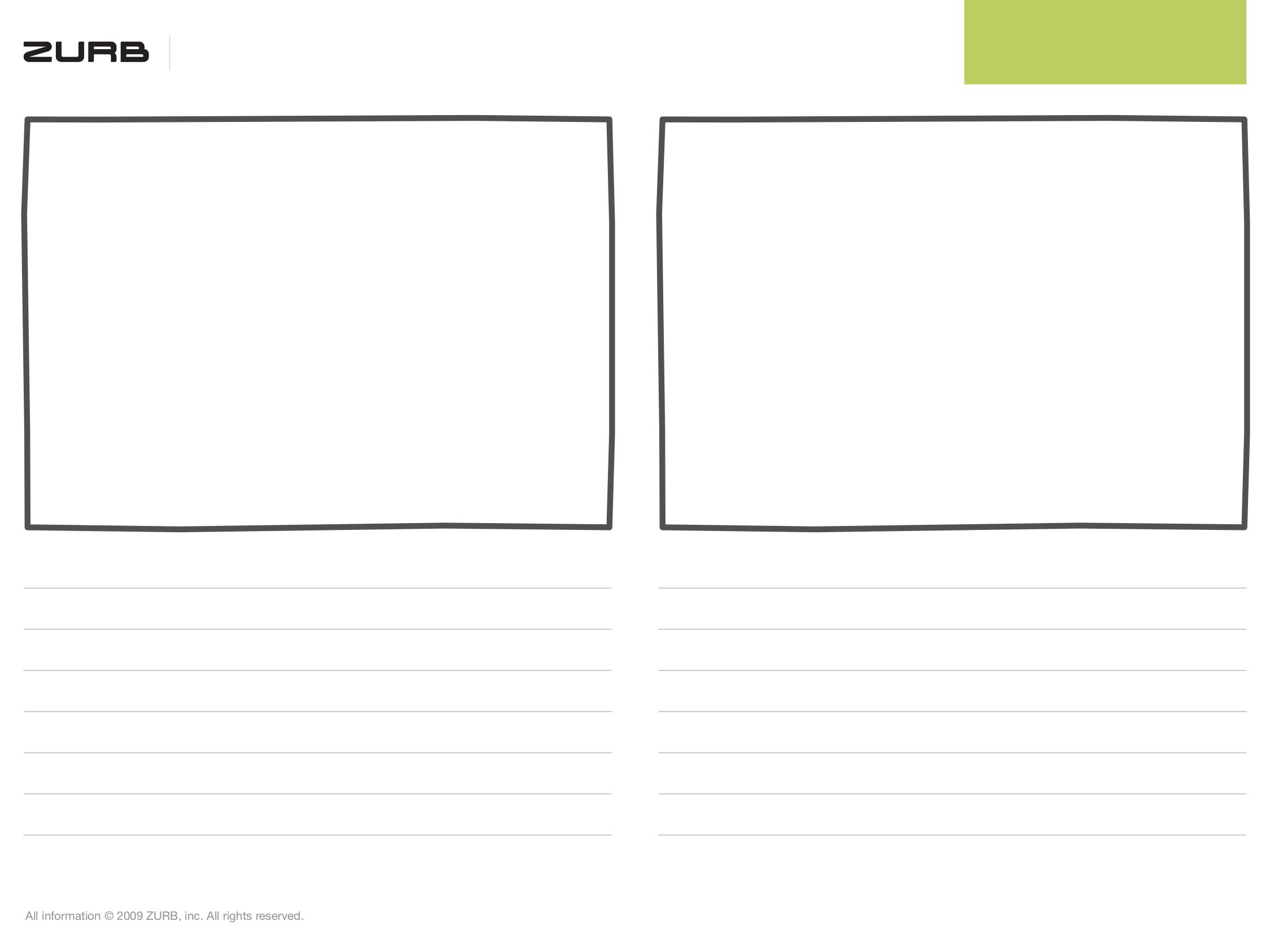 Dva rámce pro skicování v šablonách od ZURB