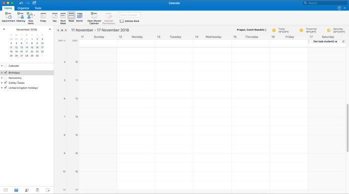 Desktopový Microsoft Outlook