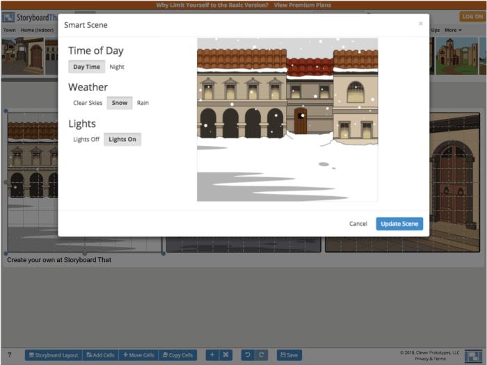 Ve StoryboardThat můžete snadno upravovat vaše scény.