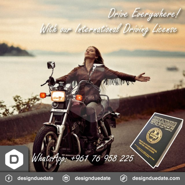 Gold International Driving License