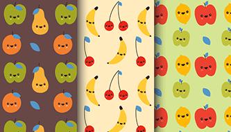 Коллекция фруктовых паттернов для вашего дизайна