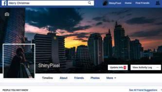 Создаем бесшовный дизайн профиля для Facebook в Фотошоп
