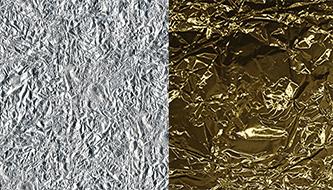 Коллекция текстур золотой и серебряной фольги для вашего дизайна