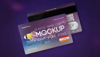 Бесплатные PSD макеты кредитных карт