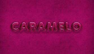 Создаём Текст из Карамели в Photoshop