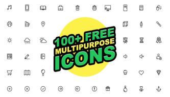 100 бесплатных многоцелевых векторных иконок