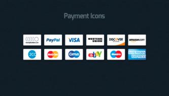 20 наборов иконок способов оплаты