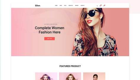 Веб-шаблон PSD для электронной коммерции Silon One Page Adobe Photoshop