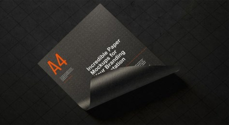 Free A4 Paper Branding Mockup For Flyers & Letter Head