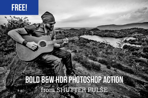 Bold B&W HDR Photoshop Action